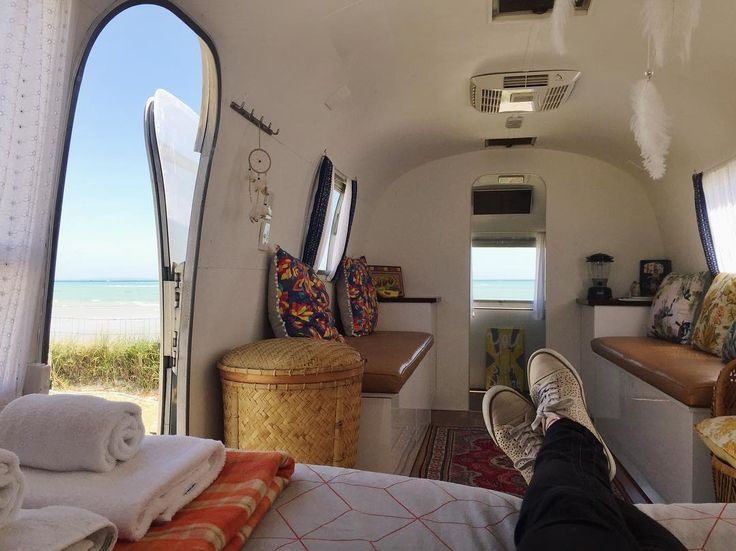 #PeggySueTheAirstream gets to hang out by the beach this weekend  @happyglamper