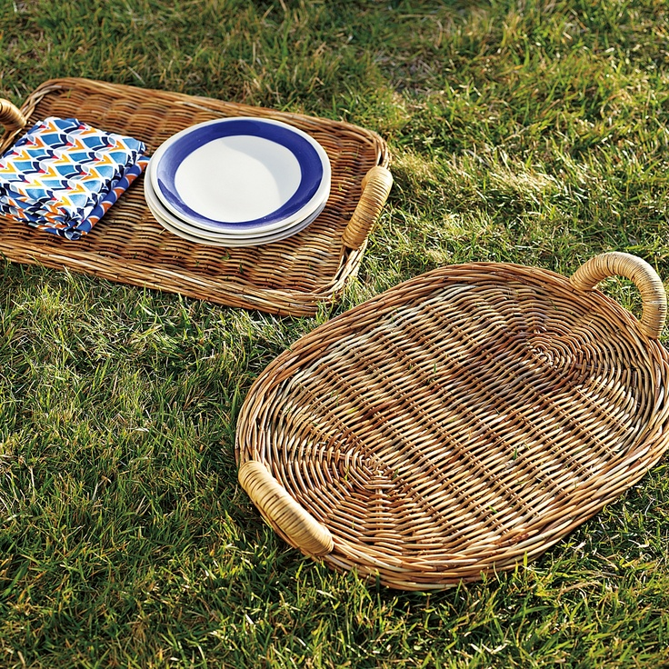 Chunky Rattan Trays | Serena & Lily