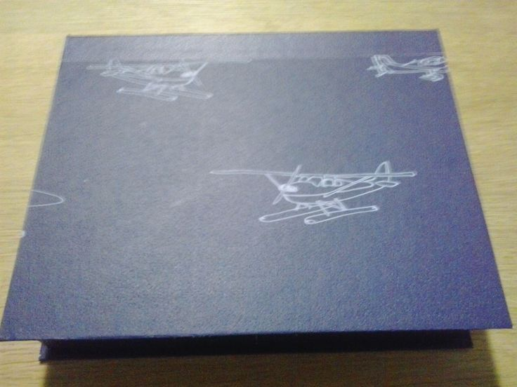 Caja Aviones azul by Antaño y Hogaño