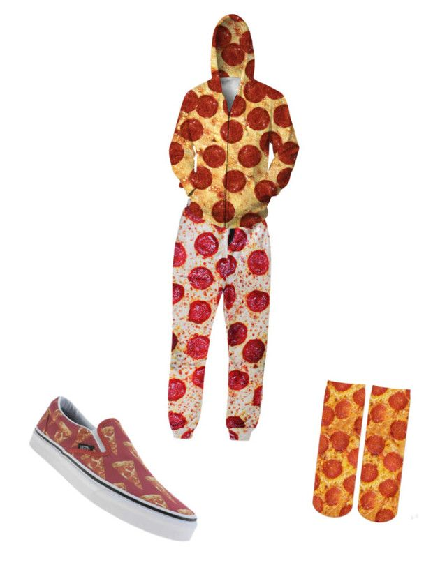 """""""pizza"""" by galaxywolf666 ❤ liked on Polyvore featuring Vans"""