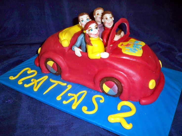 the red Wiggles car