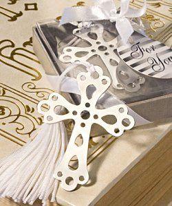 Silver Cross Bookmark Christening Bomboniere