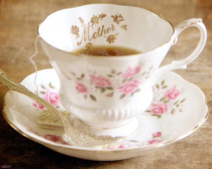 Mothers Day Gift. 8x10 Fine Art Photography Print. Antique Tea Cup And Sliver Spoon. Shabby Chic Home Or Office Decor.