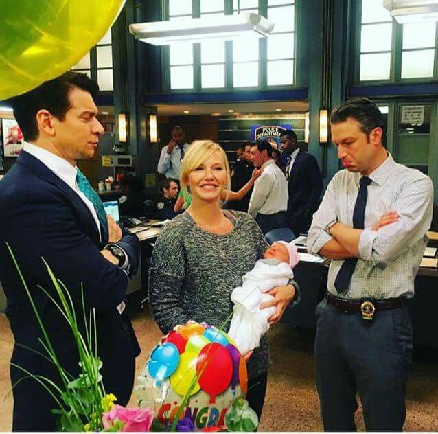 Kelli Giddish And Carisi With Kellis New Baby Ludo Law And Order Svu Actor