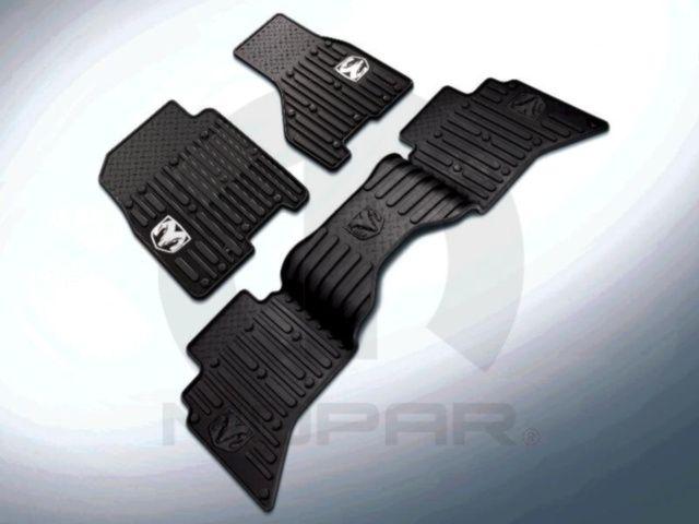 2012 Dodge Ram 1500 2500 3500 Front All Weather Rubber Slush Mats Bark Brown OEM - Mopar (82213384)