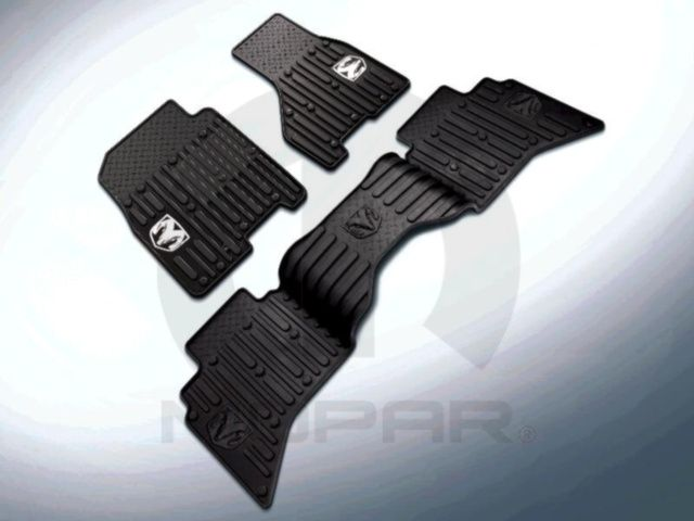 2012 Dodge Ram 1500 2500 3500 Front All Weather Rubber Slush Mats Bark Brown OEM - Mopar (82213384)