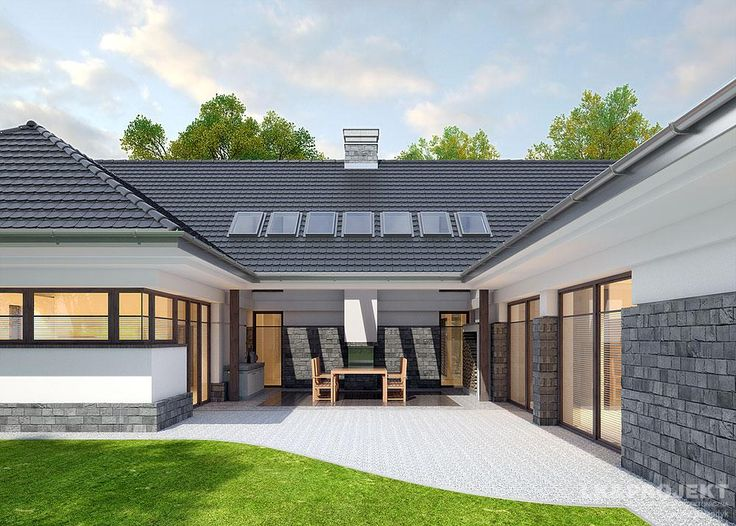Projekty domów LK&Projekt LK&1074 wizualizacja 3