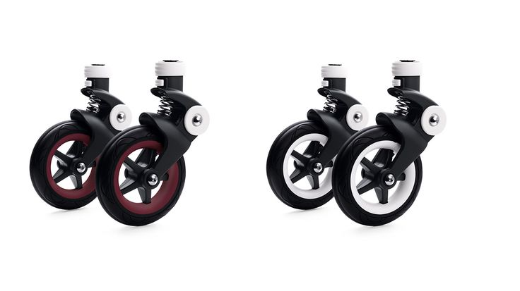 Changeable wheel caps give you even more ways to mix and match your colors. Select between White or Dark Red wheel options