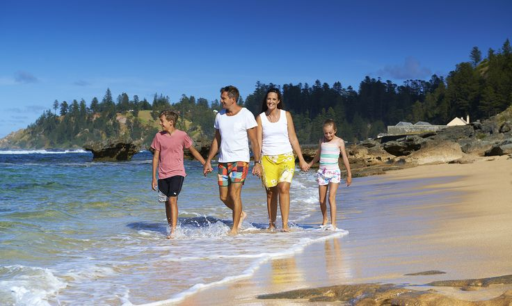 Amazing beaches of Norfolk Island South Pacific