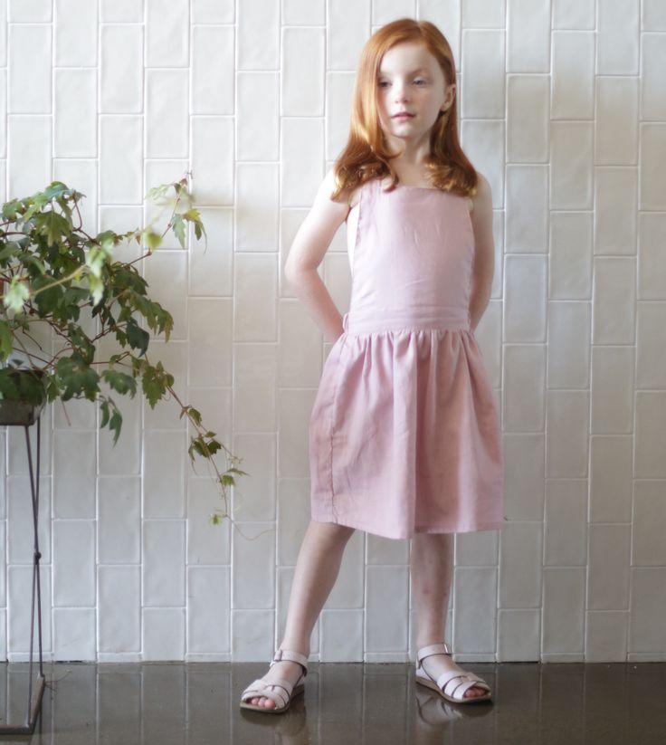 Handmade Janey Pinafore in cotton linen. #dresses #handmade
