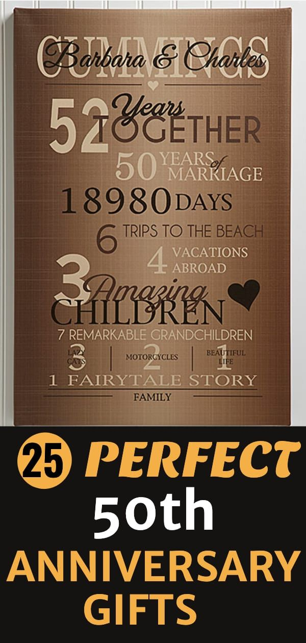 50th Wedding Anniversary Gifts With Images 50 Wedding