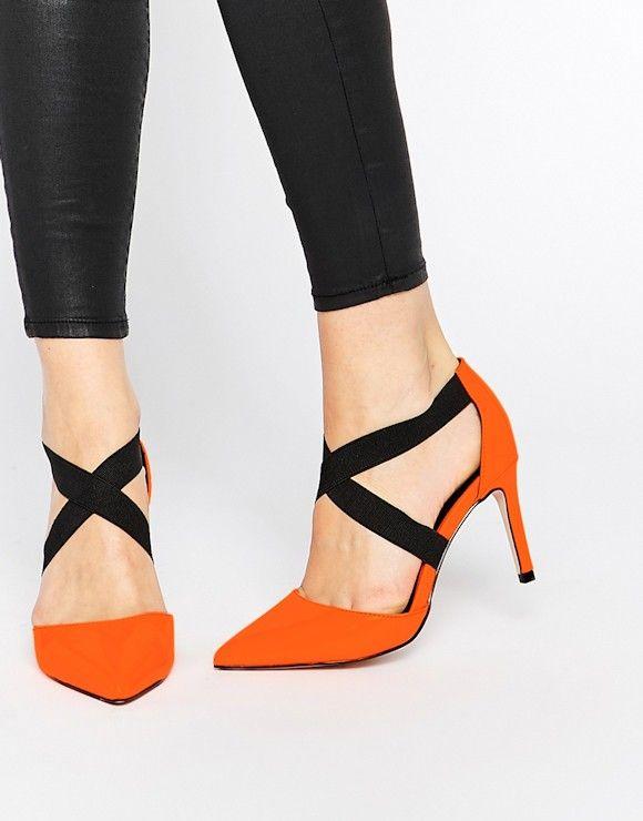 Ces escarpins orange verni avec brides noires vont électriser vos looks (à petit prix) >> http://ptilien.fr/Qexb