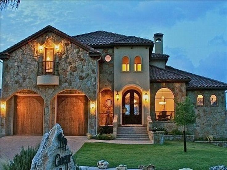17 best images about exterior home plans on pinterest for Tuscan house plans single story