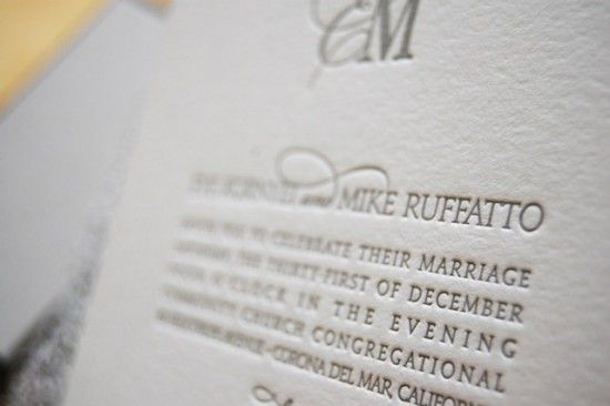 Oh So Beautiful Paper: Eve + Mike's Metallic Silver New Year's Eve Wedding Invitations