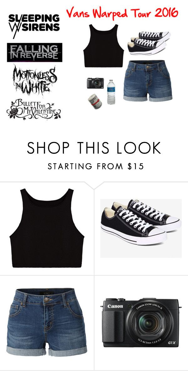 """""""Vans Warped Tour 2016"""" by hellokitty522 ❤ liked on Polyvore featuring Bullet, Converse, LE3NO and G1"""