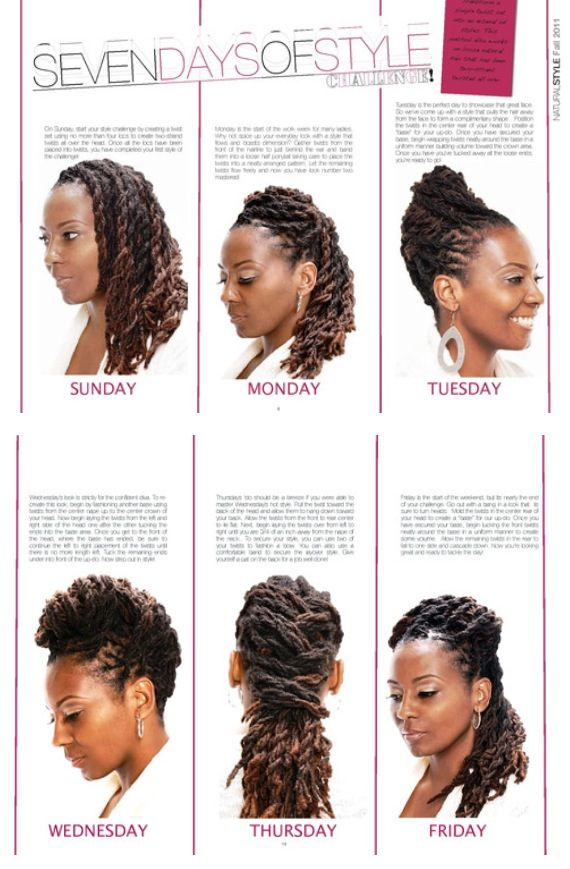 A week's worth of loc styles