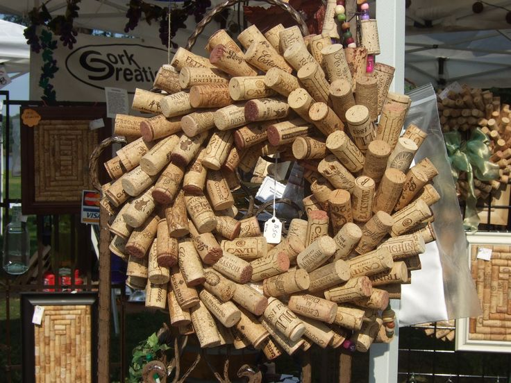 Small Wine Cork Wreath Diy