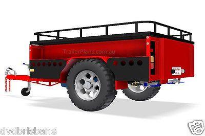 OFF-ROAD Camper Trailer PLANS - Trailer Design -3 Sizes