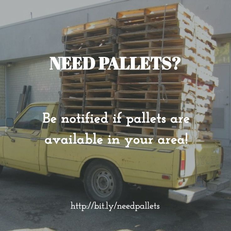 Discover places where you can find some wood pallets for free or for a cheap price for your next project! Be notified if we find pallets near you!