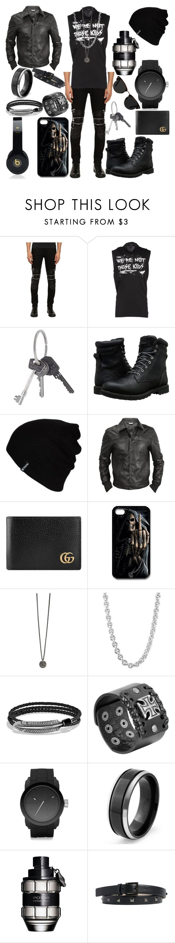 """Guys Night Out #2"" by vampirekitty34 ❤ liked on Polyvore featuring God's Masterful Children, Dsquared2, Givenchy, Timberland, Hurley, Forzieri, Gucci, Beats by Dr. Dre, John Hardy and David Yurman"