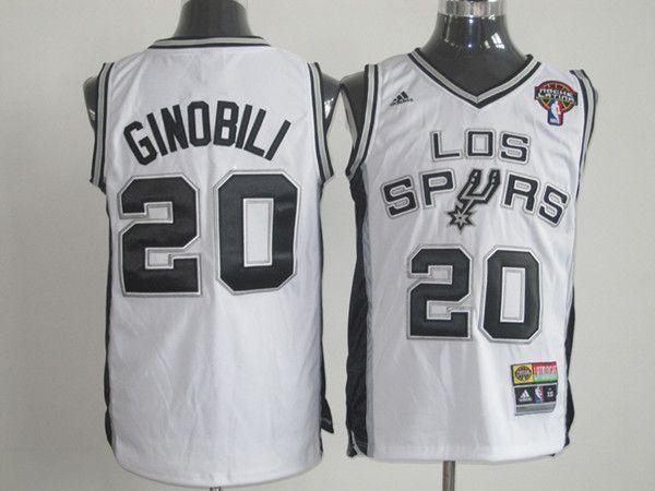 timeless design 1406d d5af6 nba jerseys san antonio spurs 20 manu ginobili black and ...