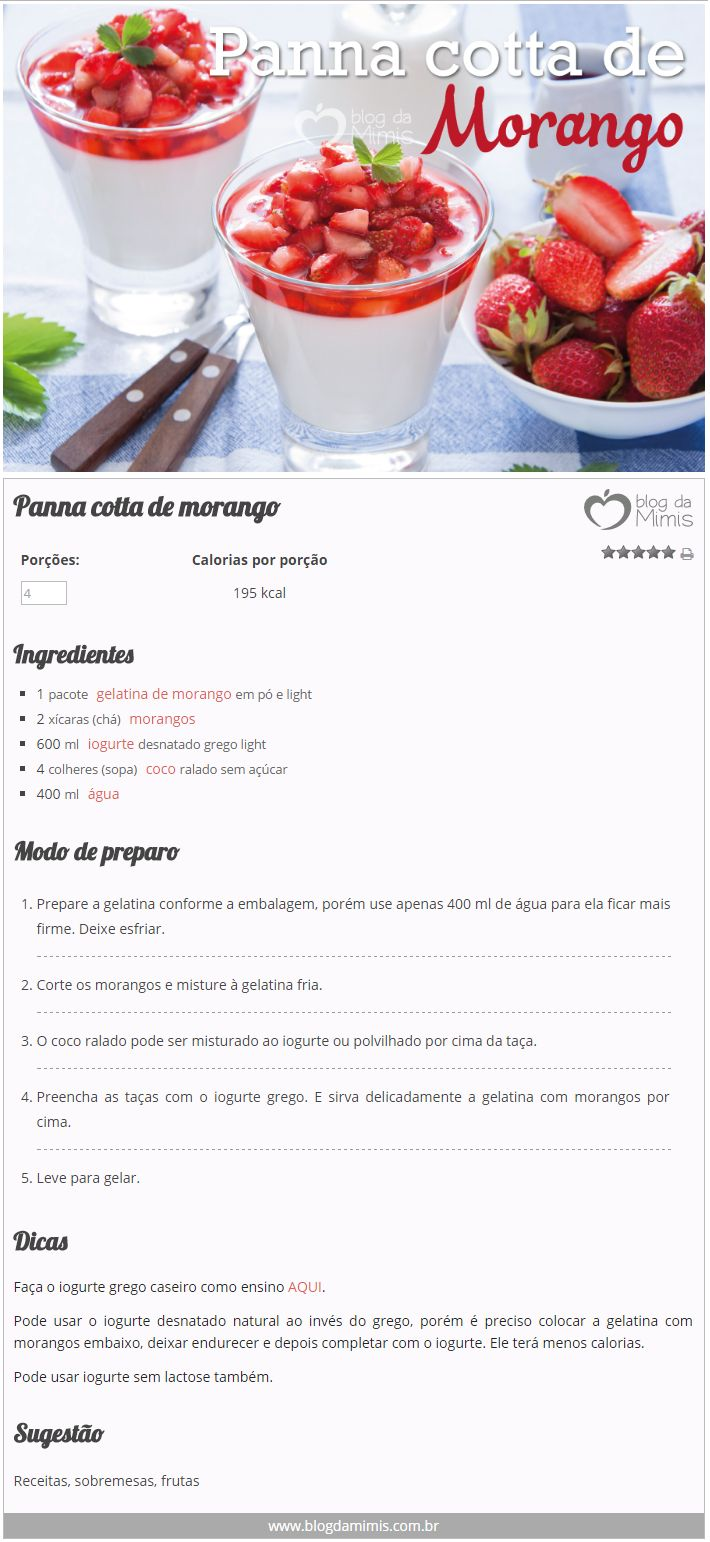 Panna cotta de morango - Blog da Mimis #pannacotta #sobremesa #natal #doce #morango #sweet