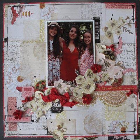 layout by Kim Ewins using Hanami Garden paper range. www.craftqueen.com.au