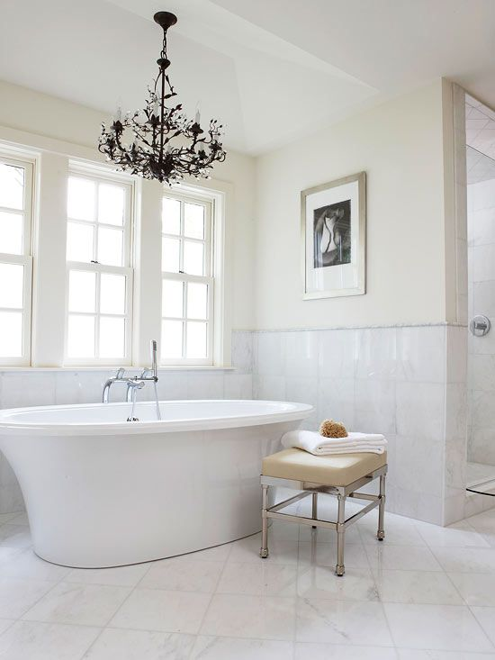 Freestyle Flair A major step in choosing the right tub requires you to look at available space as well as your bathroom's overall style. Freestanding tubs are finished on all sides, so they can stand anywhere in the room. They often create a striking bathroom focal point.