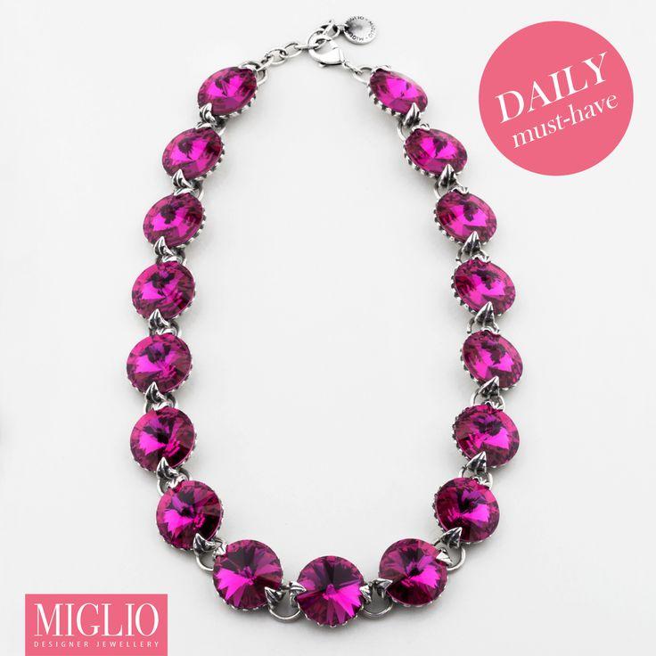 #swarovski crystal #necklace from www.miglio.com