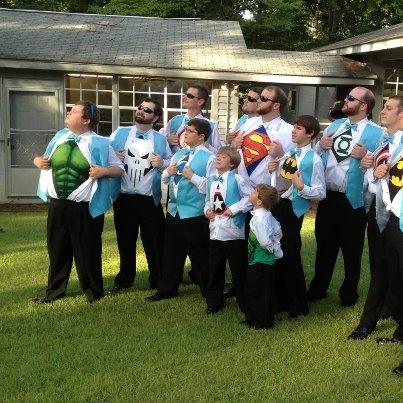 Superhero Wedding Party!