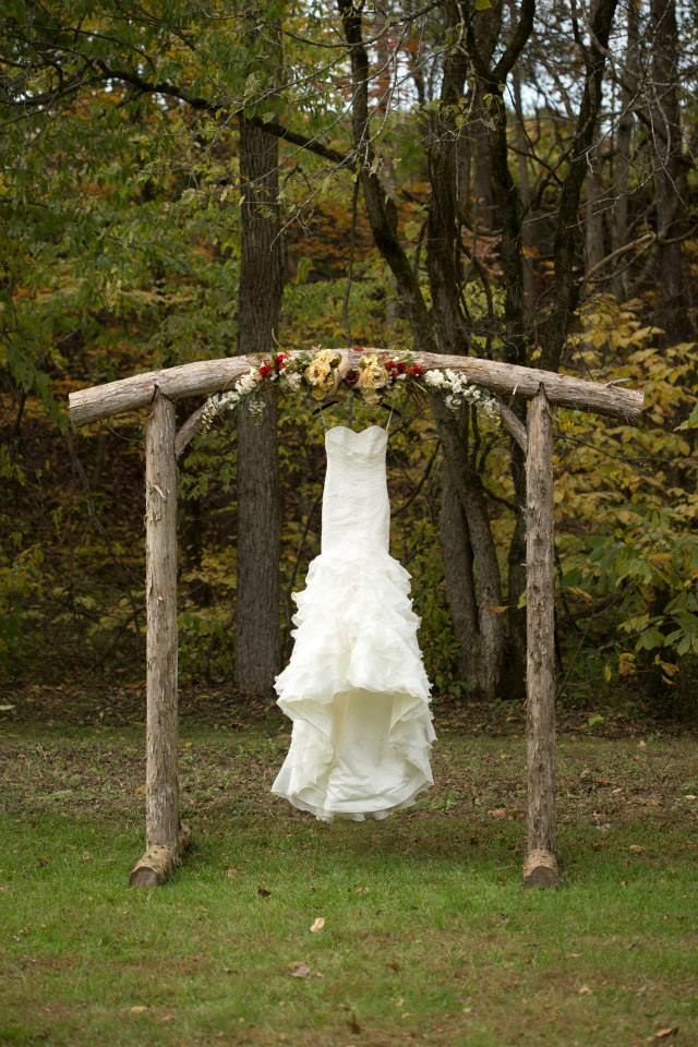 Trini's dress with arbor | Barn at Cedar Grove
