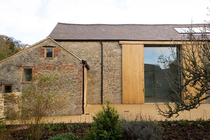 Barn opening and additional entrance in front- possible way to minimise bulk but…