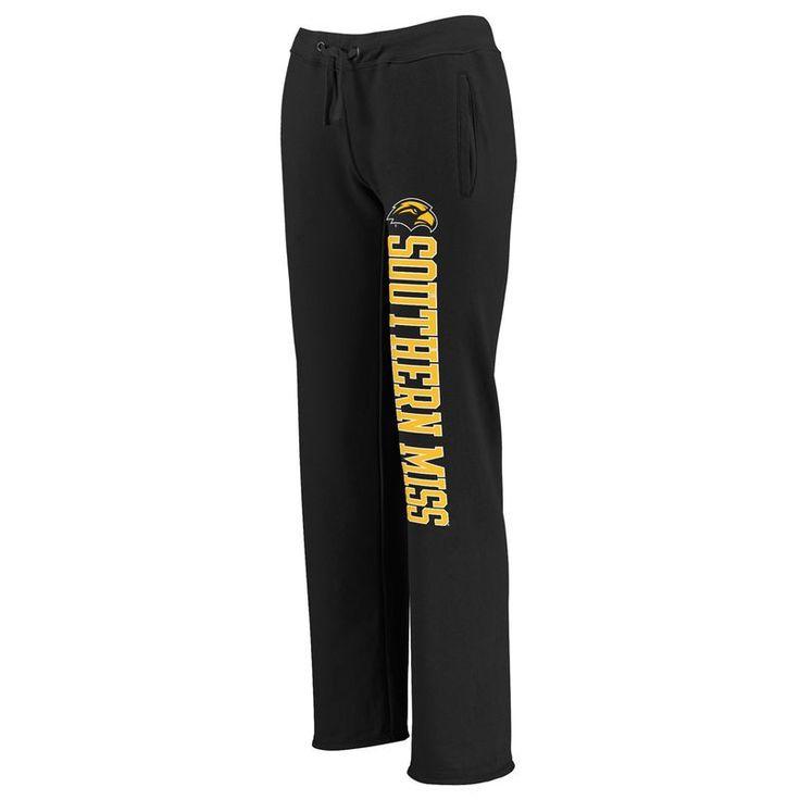 Southern Miss Golden Eagles Fanatics Branded Women's Sideblocker Sweatpants - Black