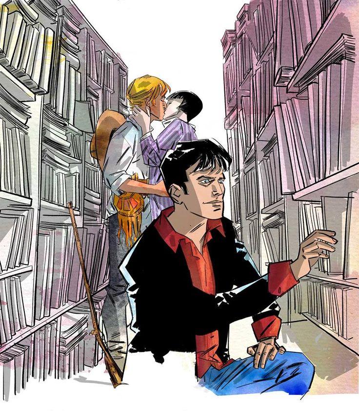 http://nedbajalica.blogspot.it/p/oltre-cento-anni-ci.html #illustration, #Dylan Dog, #Ken Parker, #comics, #Ned, #Avventure di carta