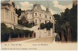 Casona donde el funciono hasta años 67-68 el Liceo Guillero Rivera de Viña del Mar en la calle Alberto Blest Gana