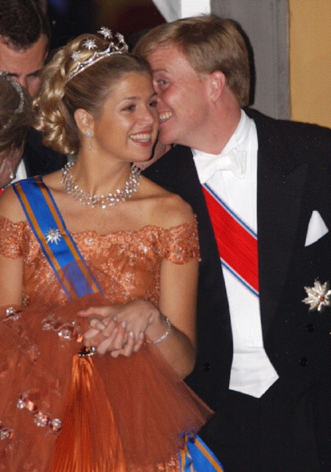 Princess Maxima with husband Prince Willem-Alexander of the Netherlands