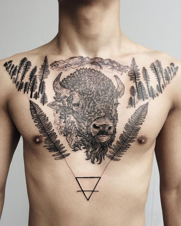 17 best ideas about bison tattoo on pinterest buffalo for Tattoos of buffaloes