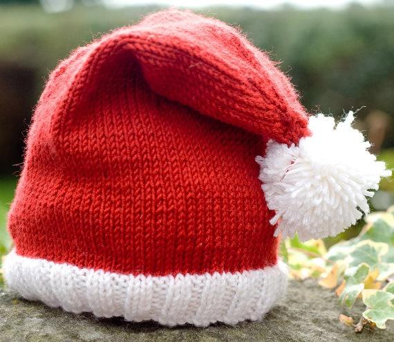 Baby Santa Hat  Luxury Merino Wool/Cashmere  by BlueberryBarnKnits, £14.00