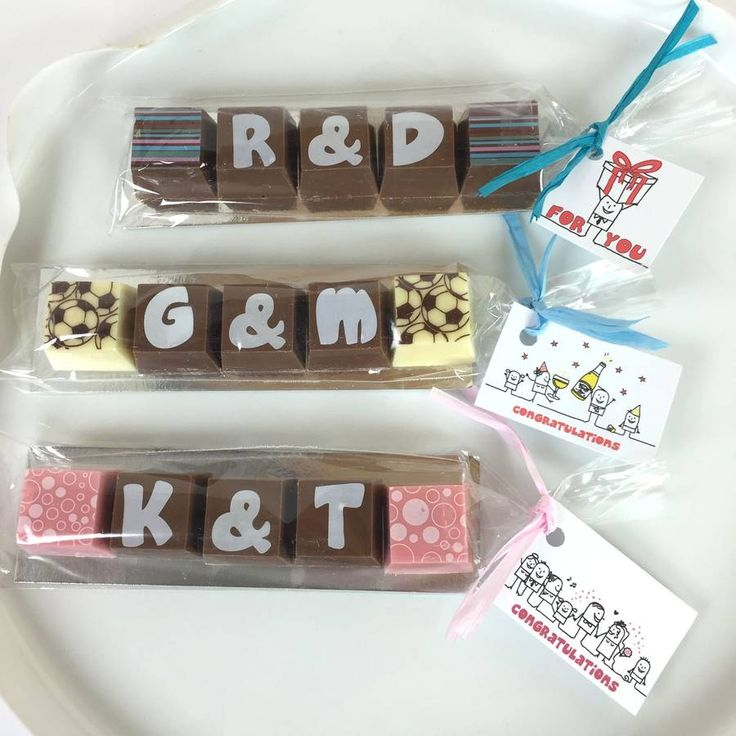 five personalised chocolates with optional tag by chocolate by cocoapod chocolate | notonthehighstreet.com