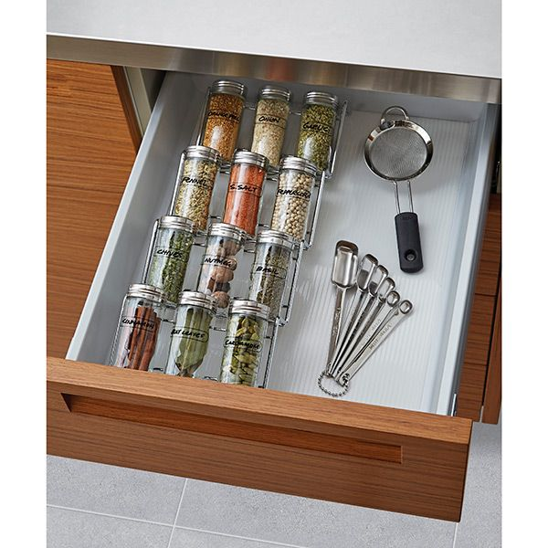 In Drawer Spice Rack Set   The Container Store