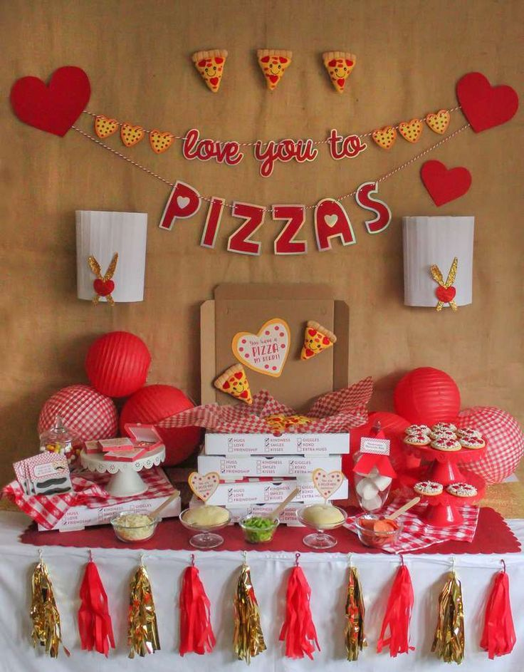Valentine S Day Party Ideas Pizza Party Birthday Valentines Day