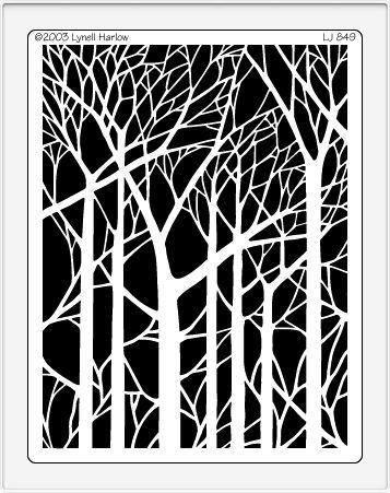 Tree Branch Stencil | ... Design :: Dreamweaver Stencils :: Stencils :: Bare Trees Stencil (LJ