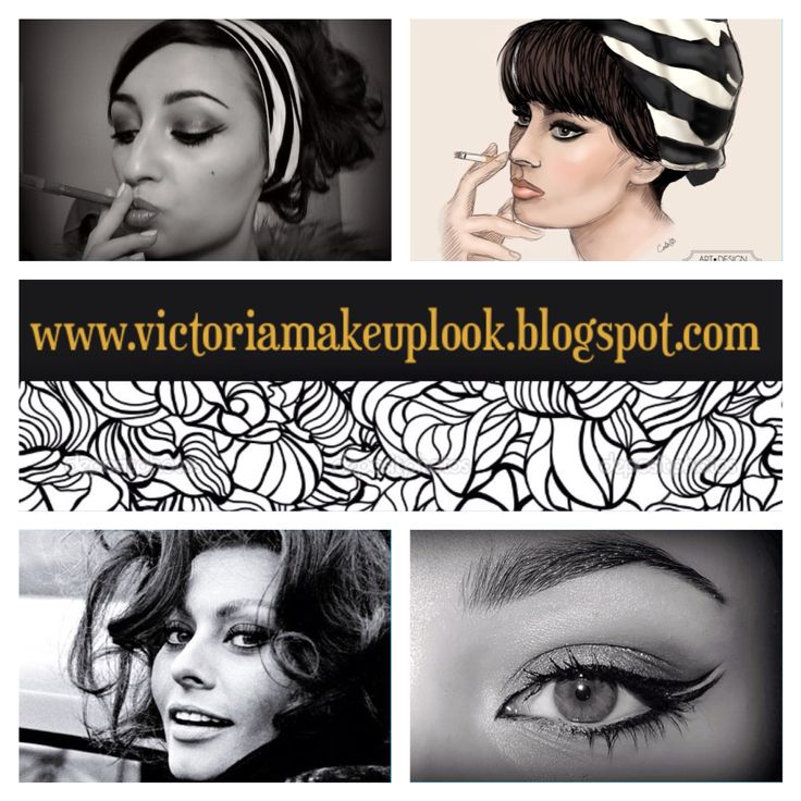 #sophialoren #makeup #victoriamakeuplook #black #white #cigarette #inspired #look