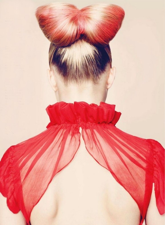 Red hair bow ~ inspired by Batiste Vibrant & Red Dry Shampoo