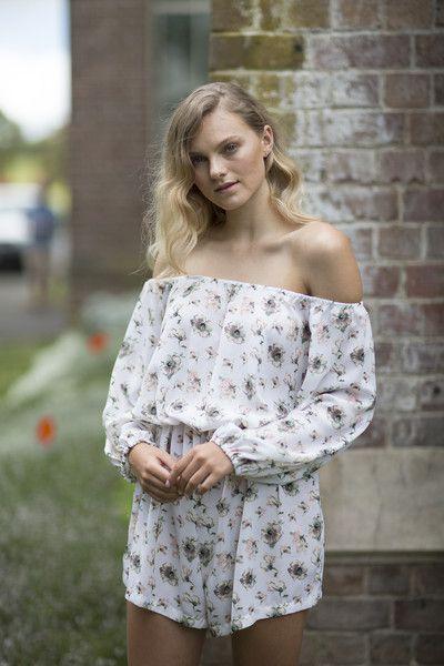Celine Rita NZ Designer Floral Off shoulder jumpsuit Auckland Wintergardens