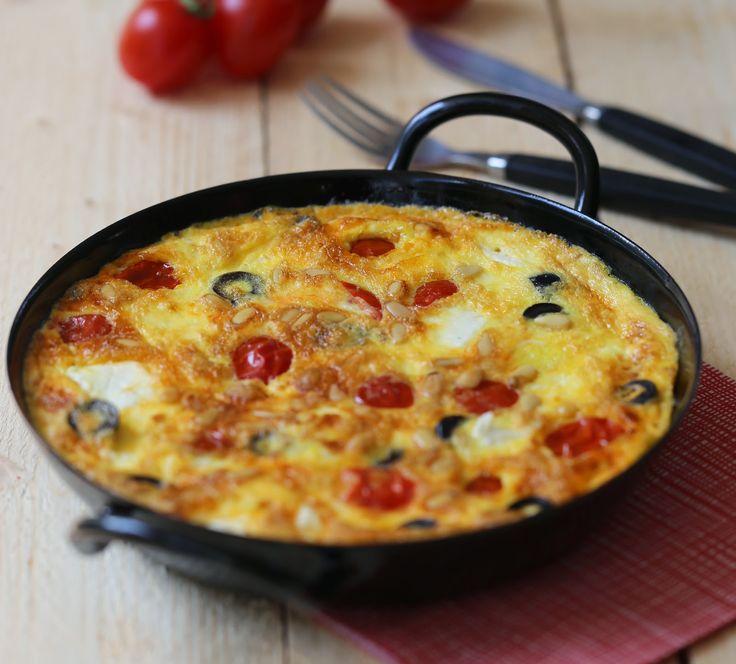 Tortilla tomates, olives, feta