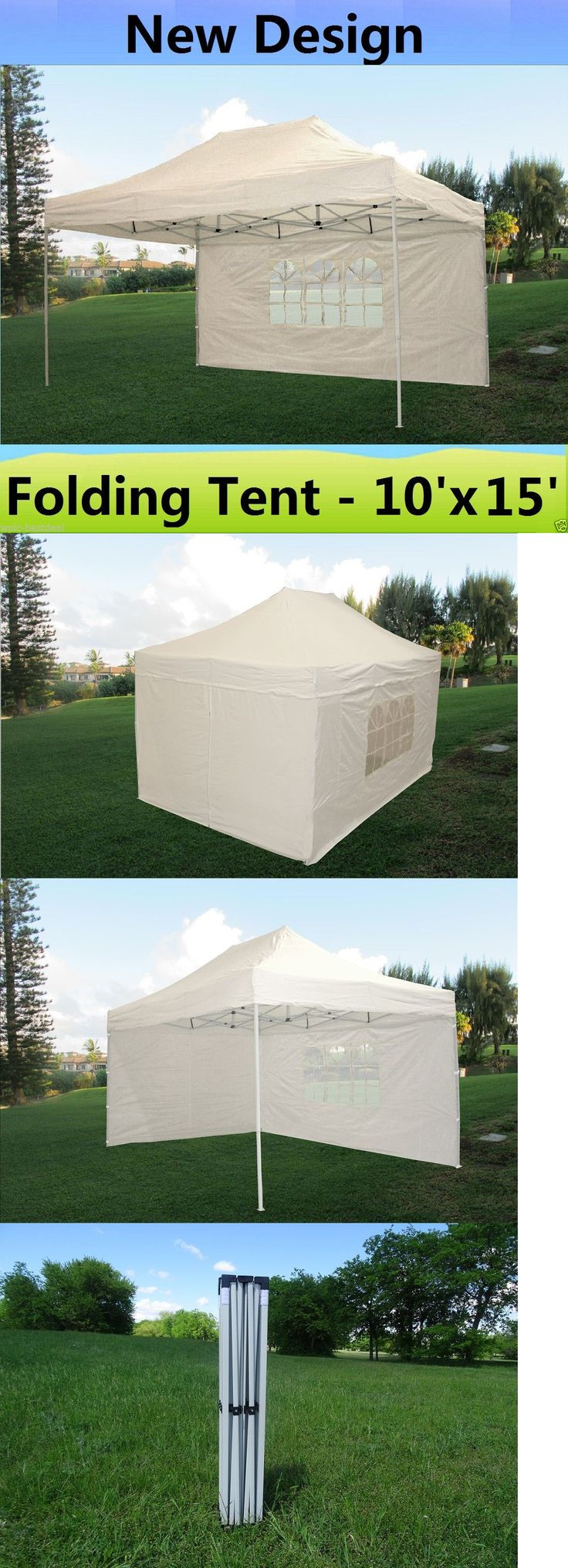 Awnings and Canopies 180992: 10 X 15 Pop Up Canopy Party Tent Gazebo Ez - White - E Model -> BUY IT NOW ONLY: $209.99 on eBay!