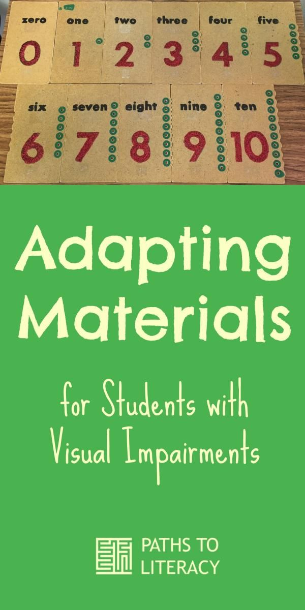 Tips to adapt materials found around school for students who are blind or low…