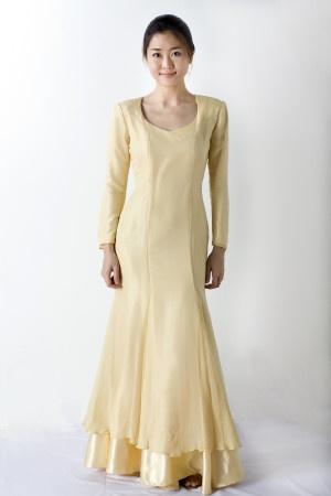 Long Yellow Chiffon Silk Dress  http://tailorasia.com/product/yellow-long-dress-2/