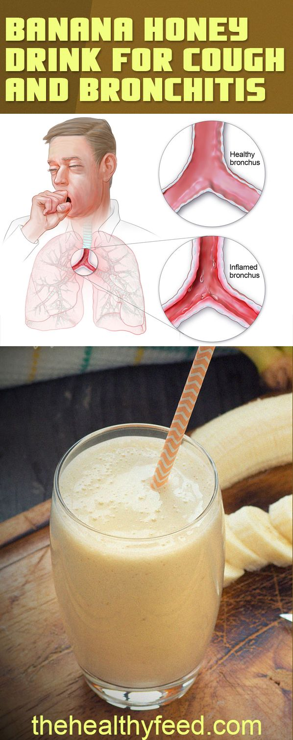 HERE IS HOW TO PREPARE IT!!! Mix Bananas, Honey and Water: Cough and Bronchitis Will Disappear #banana #stop #cough #bronchitis #doctor #recipe #mixture #healthy #healthyliving